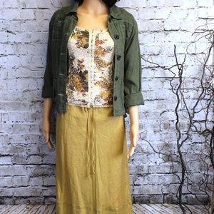 Linen Skirt & Shirt 3-piece Ensemble